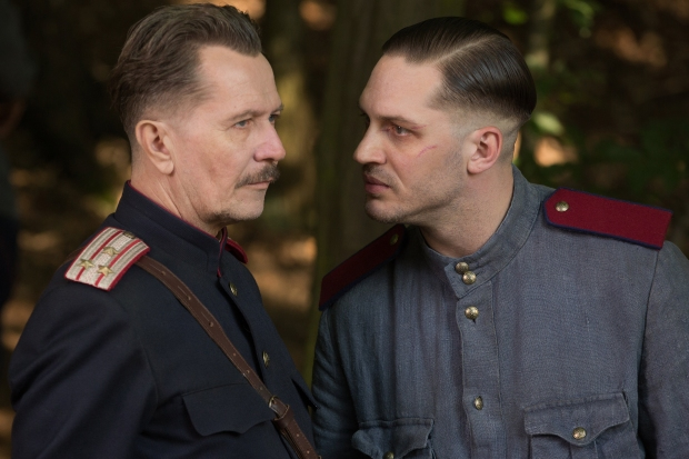 CHILD 44 - 2015 FILM STILL - (L-R) Gary Oldman as 'General Mikhail' and Tom Hardy as 'Leo Demidov'- Photo Credit: Larry Horricks  © 2013 Summit Entertainment, LLC. All Rights Reserved.